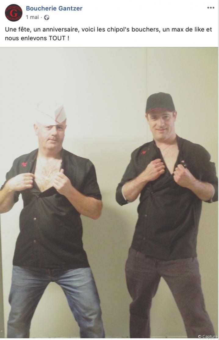"""La boucherie Gantzer lance un défi : les bouchers enlèvent """"tout"""" en échange d'un maximum de """"likes"""""""