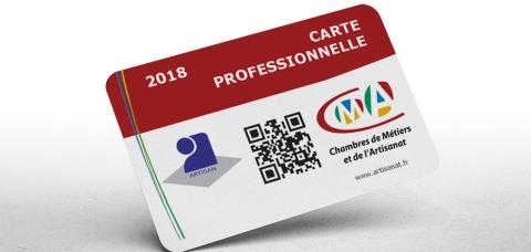 Votre carte professionnelle 2018 est donc aussi valable pour l'année 2019.