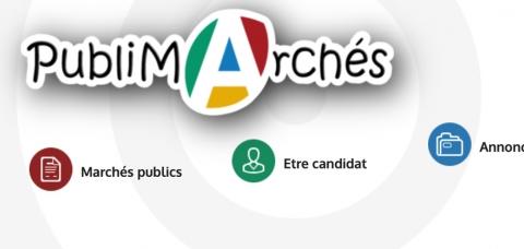 Capture d'écran de l'en-tête du site publimarches.fr